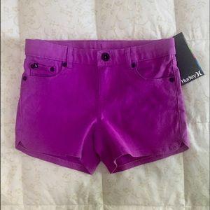 Hurley Magenta Shorts Size 7